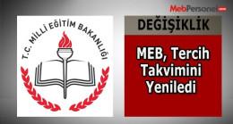 MEB, ortaöğretim kurumlarına geçişte, tercih takvimini yeniledi