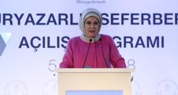 Emine Erdoğan: Okuma yazma bilmeyen kimse kalmayacak