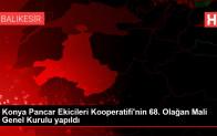 Konya Pancar Ekicileri Kooperatifi'nin 68. Olağan Mali Genel Kurulu yapıldı